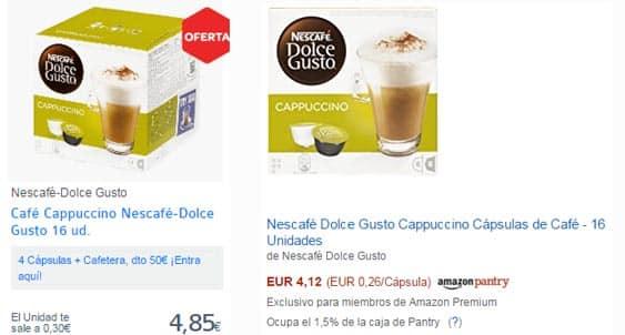 Comprar cápsulas baratas Capuchino Nescafé Dolce Gusto