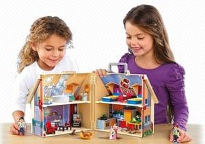 Casita de muñecas tipo maletin de Playmobil