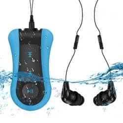 MP3 acuático con auriculares AGPTEK