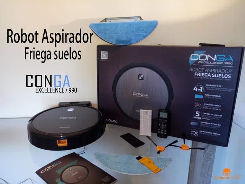 Robot aspirador Conga Excellence 990 de Cecotec