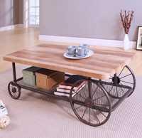 Mesa de centro estilo rústico Homely