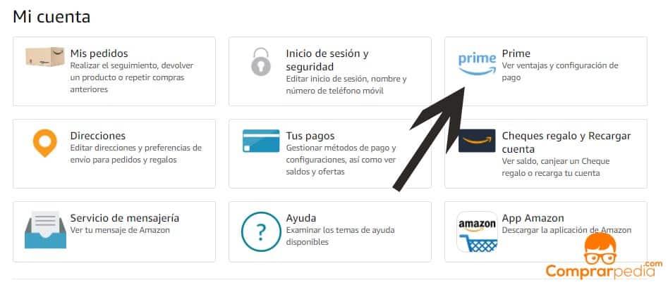 Como darse de baja de Amazon Prime
