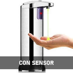 Dispensador de gel con sensor de manos